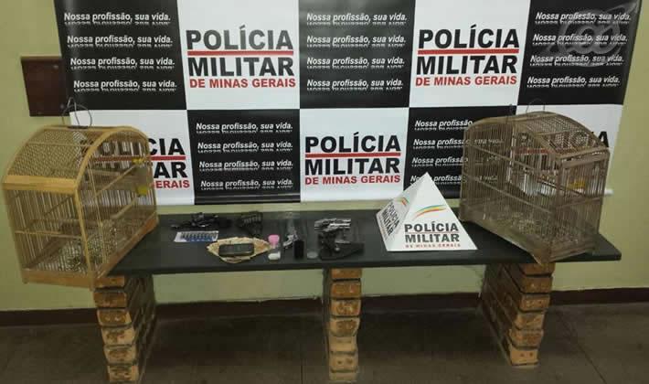 Material localizado pelos policiais