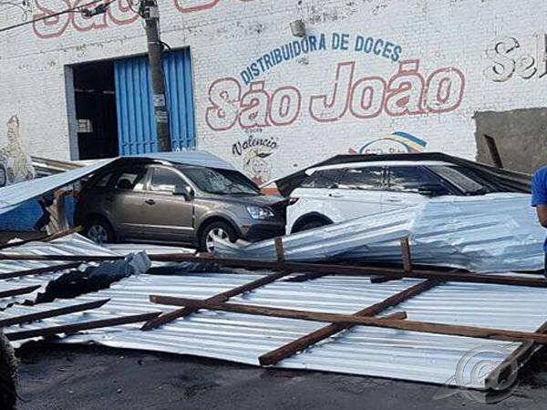 Fotos das chuvas na cidade- destruição