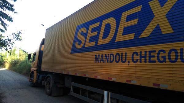 Caminhão do sedex