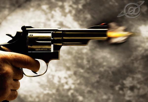Arma realizando um disparo