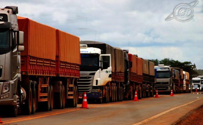Foto: Rede Social/ Inicio de manifestação de caminhoneiros na região