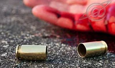 Imagem de uma vítima atingida por disparos