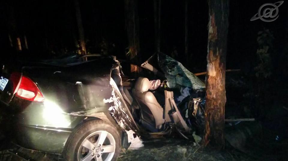 Fotos: BMMG / O Honda ficou totalmente destruído