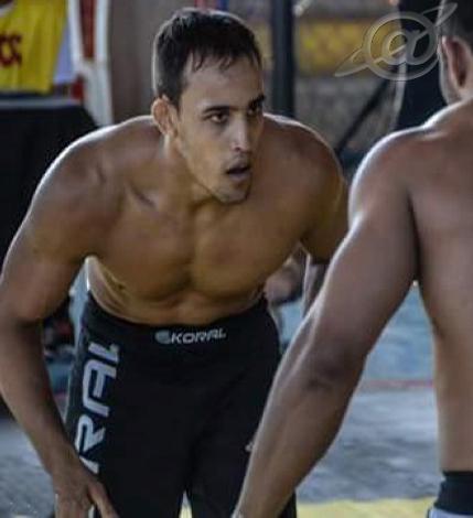 momento do lutador no treino