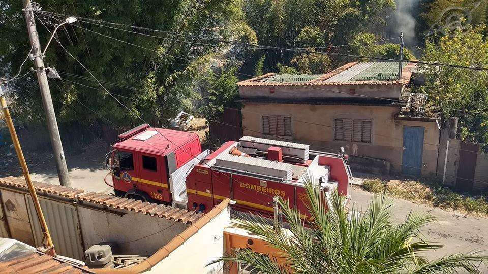 Foto de atendimento de uma queimada