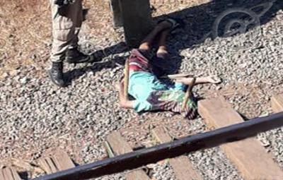 Foto: Rede Social / O corpo da vítima de 20 anos foi localizado ao lado dos trilhos da linha férrea.