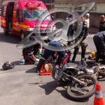 Colisão entre duas motos