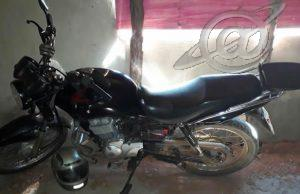 Moto usada no assalto