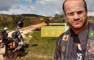 Triste adeus a um motociclista