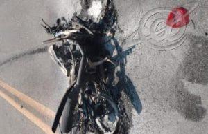 Motociclista morre na pista