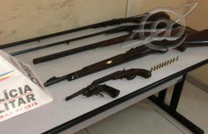 Várias armas apreendidas