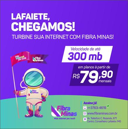 FIBRA MINAS - Mais internet pra você