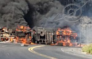 Caminhão capota e mata motorista