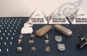 Arma de grosso calibre, munição e drogas