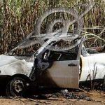 Incêndio criminoso, carro ficou destruído