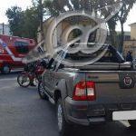 Colisão entre carro e moto