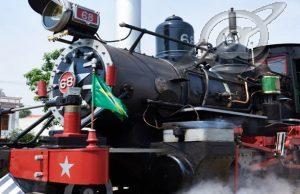 Peças de linha férrea em Tiradentes